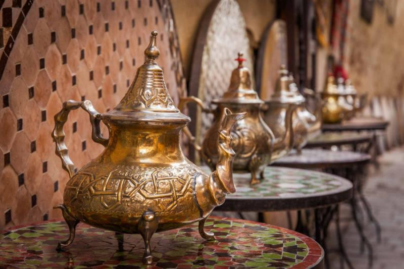 moroccofezmedinateapotsonshowatacraftworkshop